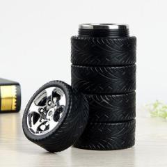 轮胎形家用车载不锈钢密封保温杯