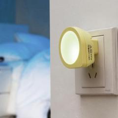 智能光控感应小夜灯--黄色 专注创意礼品