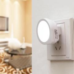 智能光控感應小夜燈--白色 創意類禮品