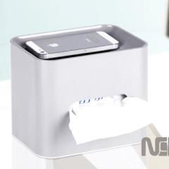 纳川创意日式纸巾盒/抽纸盒--A0168(浅灰色)