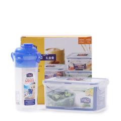 乐扣乐扣(Lock&Lock)  保鲜盒水杯套装   塑料密封饭盒收纳盒HPL931NS001