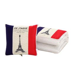 棉麻风格抱枕被 可定制LOGO 活动礼品