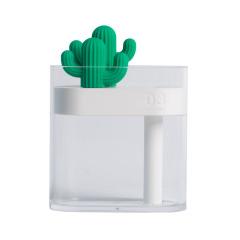ins風小透明仙人掌加濕器 可愛USB桌面靜音空氣加濕器 小清新禮品