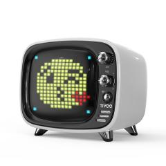 【致敬像素時代】Tivoo像素無線藍牙音箱 復古電視機多功能迷你鬧鐘小音箱 潮便攜低音炮插卡音響 年輕時尚的禮品
