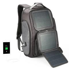 太阳能充电双肩包 YKK拉链大容量耐磨耐用 创意商务礼品
