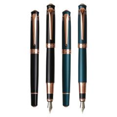 英雄(Hero) 典雅花纹高档铱金笔 品质金属钢笔 创意商务办公礼品
