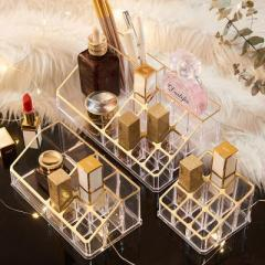 九小格口红收纳盒 化妆品整理架--烫金 网红小礼品
