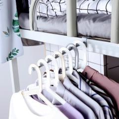 下架 宿舍床边挂衣钩 七珠挂钩挂衣服收纳架--灰色