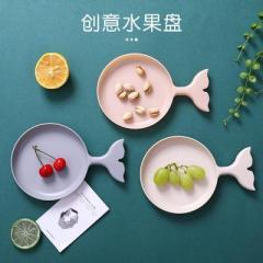 小魚形水果盤 零食點心小碟子--米色 最實用創意小禮品