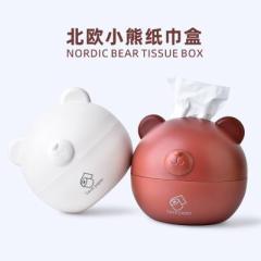 北欧小熊纸巾盒 卷纸抽纸收纳盒--棕色(RB556) 实惠礼品