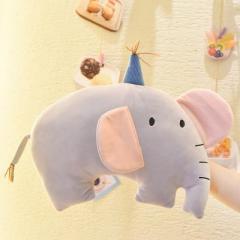 温冬卡通萌宠可拆洗双插手电热水袋 暖手宝--ins风小象 年会游戏奖品