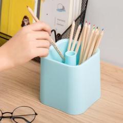 北欧风餐具沥水筷子笼 三格笔筒化妆品架--天蓝色 小礼品有哪些