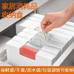 可貼標簽折疊式垃圾袋收納盒--小號
