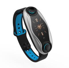 蓝牙5.0对耳通话智能手环 可拆分耳机 心率血压监测呼吸灯彩屏 售楼处活动礼品 电脑礼品