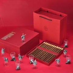 【大宴】中国红礼盒生肖杯子+筷子套装  公司年会活动奖品