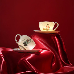 敦煌国潮新文创咖啡杯碟套装礼盒 优雅奢华精致咖啡杯 有纪念意义的礼品