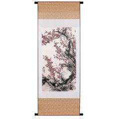 【紫氣東來】真絲織錦豎軸工藝畫 高端商務禮品