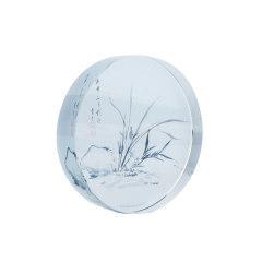 【苏州博物馆】幽谷生香水晶镇纸 精致小巧 实用展会礼品