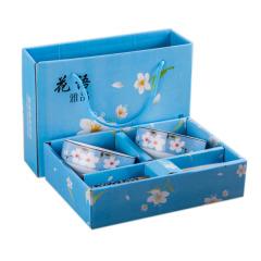 【花语】日式手绘陶瓷碗筷套装 四件套(两筷两碗)礼盒 商务馈赠礼品
