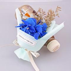 迷你干花玫瑰小花束 天然植物香皂花 情人节小礼品