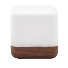 【木纹款】HBK 魔方趣味翻转灯 LED节能小夜灯 便携小礼品
