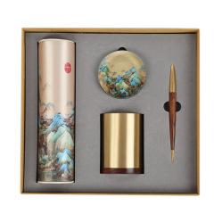 【千里江山】商务礼品丝绸山水画套装 创意文化礼品 商务礼品 500元左右