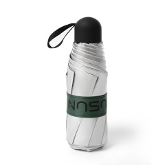 钛银五折防晒伞 8骨小巧折叠伞 UPF50+防紫外线便携超轻伞 送什么给用户好