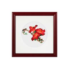 【廣繡南國紅棉】手工絲綢刺繡 特色設計 會議紀念禮品