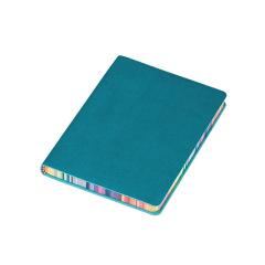 A6软面彩虹边笔记本 简约皮面加厚记事本 定制logo礼品
