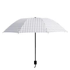 格子防晒晴雨两用伞 防紫外线伞黑胶折叠伞 福利方案