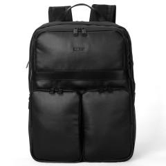 法國樂上(LEXON)大容量三層雙肩背包 15.6寸商務電腦包 柔軟PU時尚雙肩包 比賽獎品