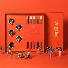 【中国宴·5人装】创意红木高档筷子酒杯礼盒 红木套装 中国特色的礼品
