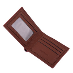 简约男士短款钱包薄款软面皮男式钱夹  便宜的礼品
