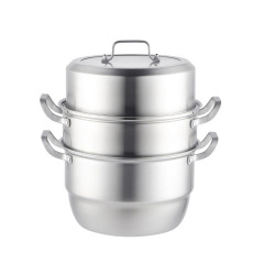 凯德勒三层蒸锅大容量蒸煮两用导热均匀蒸锅 交房送业主什么礼品好