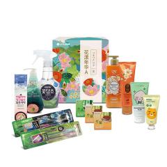 LG健康生活 韩国进口12件套 花漾年华A 日用品礼盒 实用礼品
