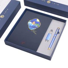 A5中国风笔记本+签字笔+OTG两用U盘商务礼盒套装 会议商务礼品