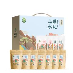 【山水厚礼-1288g】山水厚礼礼盒-扶贫款 杏鲍菇竹荪鸡枞菌高粱米玉米礼盒 公司福利
