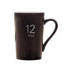 马克杯定制 广告杯 咖啡杯 茶杯 陶瓷水杯(12号哑光黑)380ML 展会的礼品