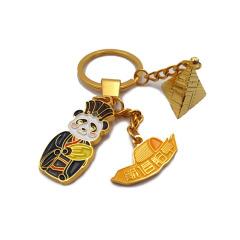 【成都博物馆】智慧三国熊猫金属钥匙扣  创意设计 实用活动奖品