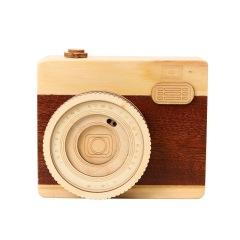 创意木质照相机音乐盒 文艺小清新旧时光音乐盒 文艺工艺摆件