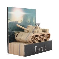 3d立体坦克纸雕便签本 公司活动送什么礼品好