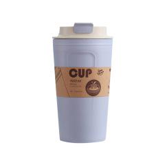時尚竹纖維水杯 簡約創意隨手杯 奶茶杯咖啡杯定制