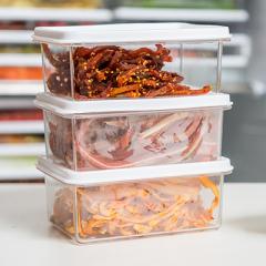 小号可叠加透明保鲜盒 冰箱密封收纳盒 450ML 创意礼品供应