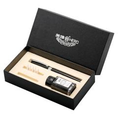 英雄(Hero) 小楷墨水书法钢笔 聚酯金属钢笔礼盒 商务办公礼品