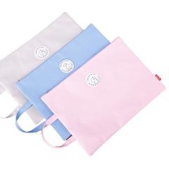得力(deli)A4拉鏈手提文件袋 純色動物圖案收納包 商務辦公禮品