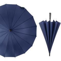 16骨超大双人长柄直杆伞纯色商务雨伞  商务礼品送什么好