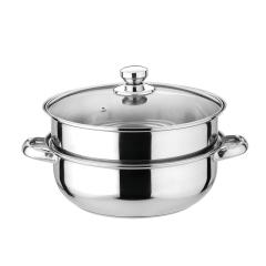 多用汤蒸锅28cm全玻璃盖面组合使用蒸焖炖煮 企业宣传礼品