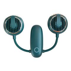 双头多功能小风扇 户外旅行挂腰充电可挂脖手持扇 随手礼品