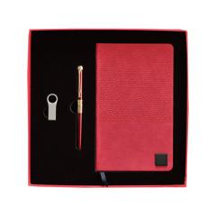 【先锋】原创设计礼盒三件套 宝珠笔U盘笔记本套装 高端商务礼品