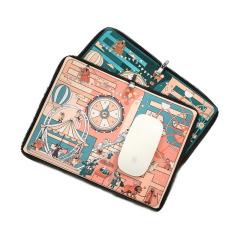 【中国国家博物馆】与民同乐仿真丝鼠标垫 两用设计 便携小礼品